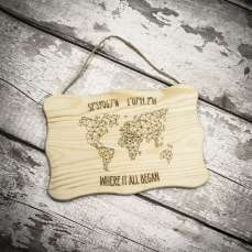 Wood hanging map no logo